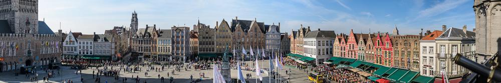 Panorama Brügge Grote Markt