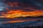 Sonnenuntergang an den Salinen