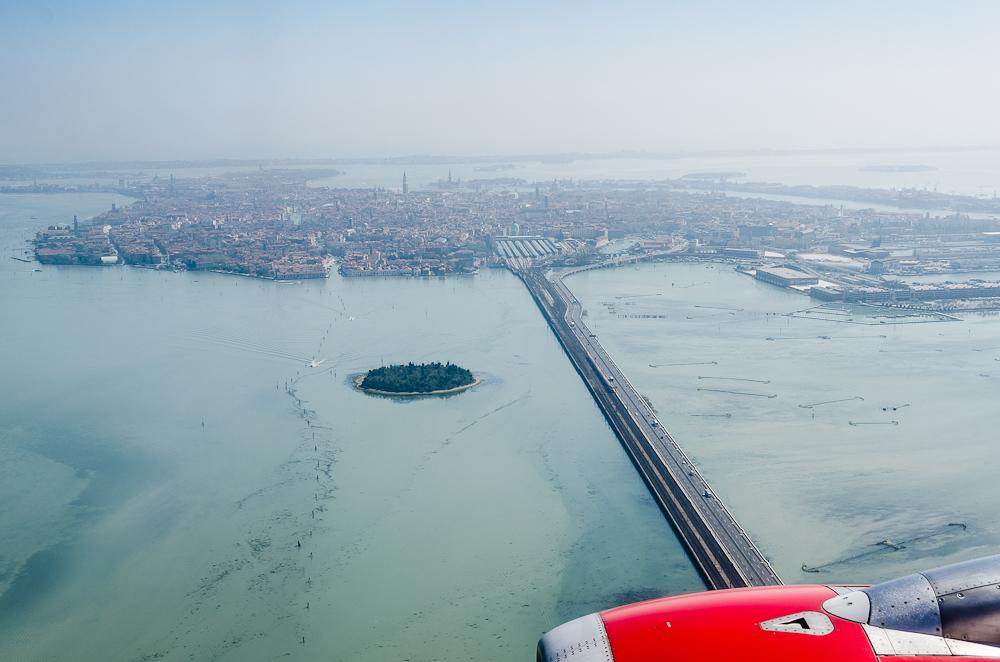 Anflug auf Venedig